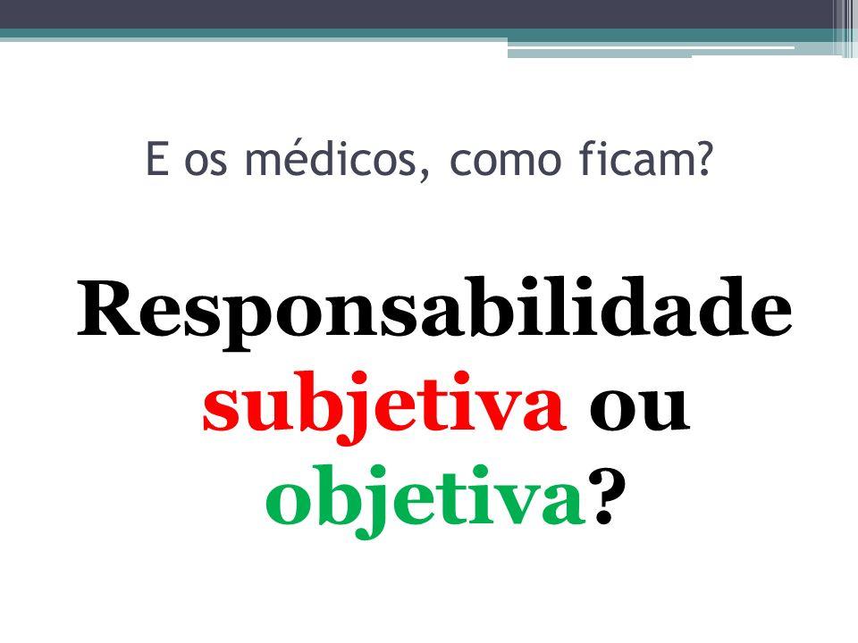 Responsabilidade subjetiva ou objetiva