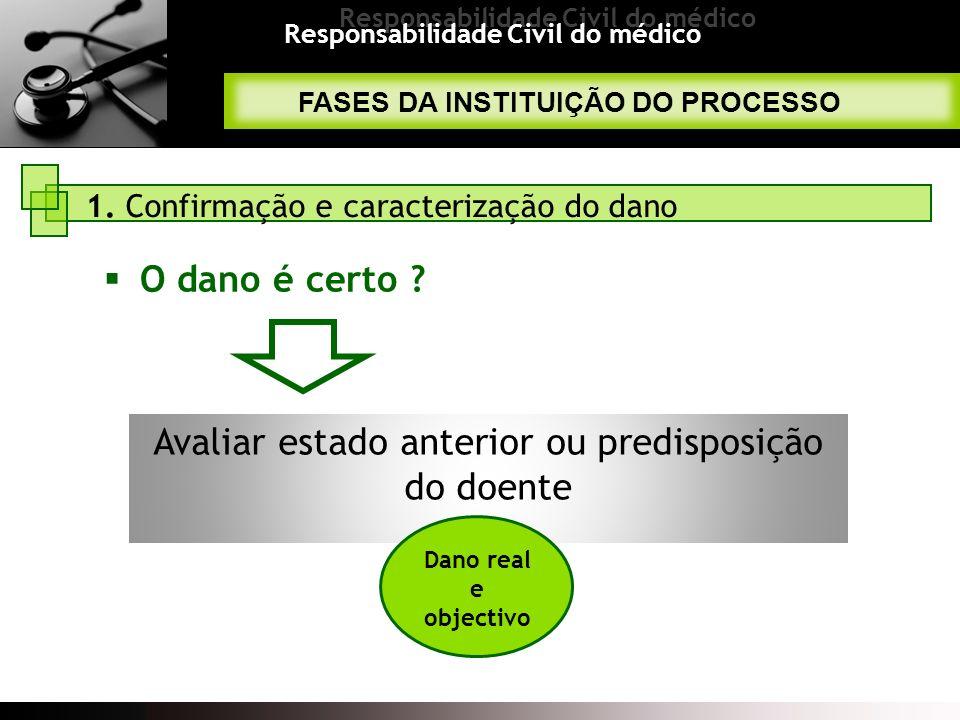 Avaliar estado anterior ou predisposição do doente