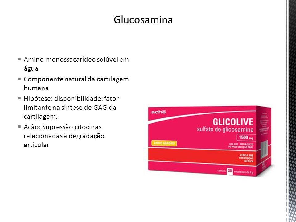 Glucosamina Amino-monossacarídeo solúvel em água