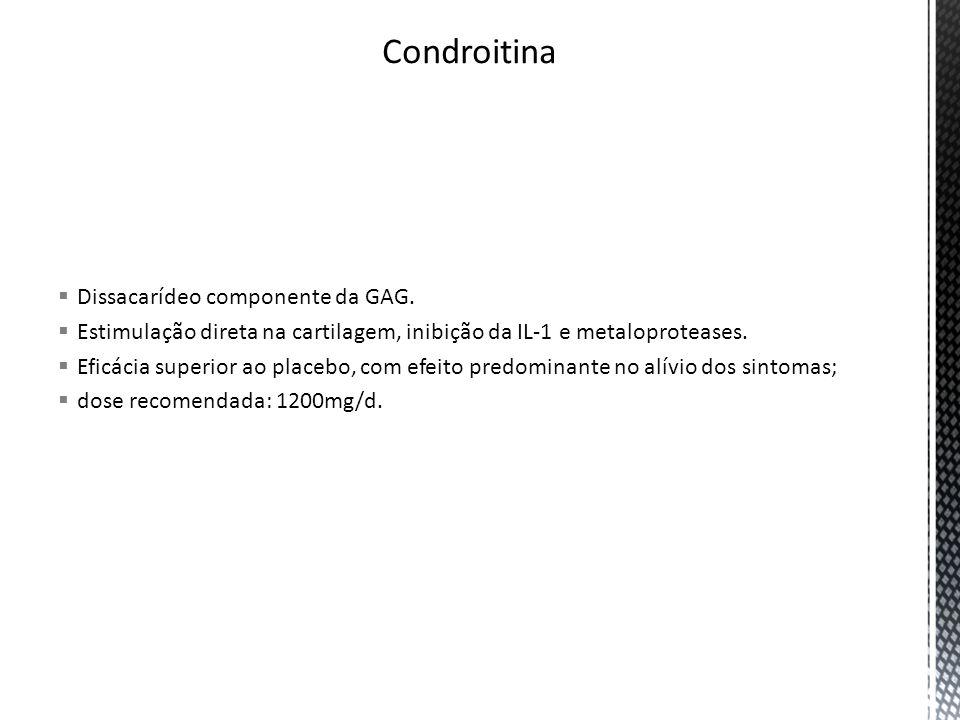 Condroitina Dissacarídeo componente da GAG.