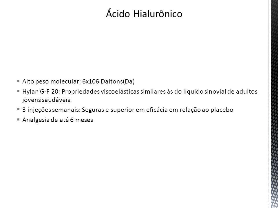 Ácido Hialurônico Alto peso molecular: 6x106 Daltons(Da)