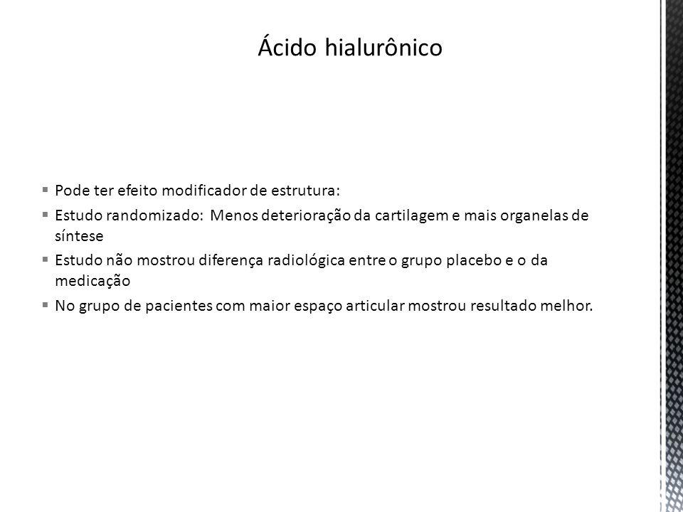 Ácido hialurônico Pode ter efeito modificador de estrutura: