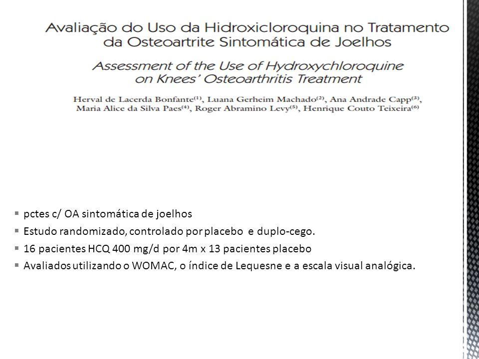 pctes c/ OA sintomática de joelhos