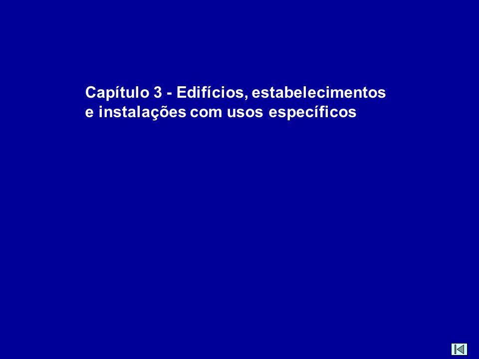 Capítulo 3 - Edifícios, estabelecimentos e instalações com usos específicos