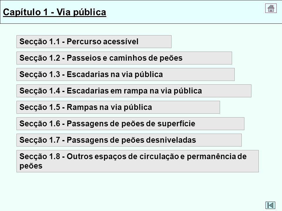 Capítulo 1 - Via pública Secção 1.1 - Percurso acessível