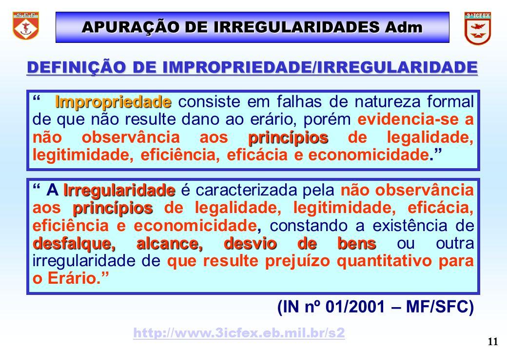 APURAÇÃO DE IRREGULARIDADES Adm