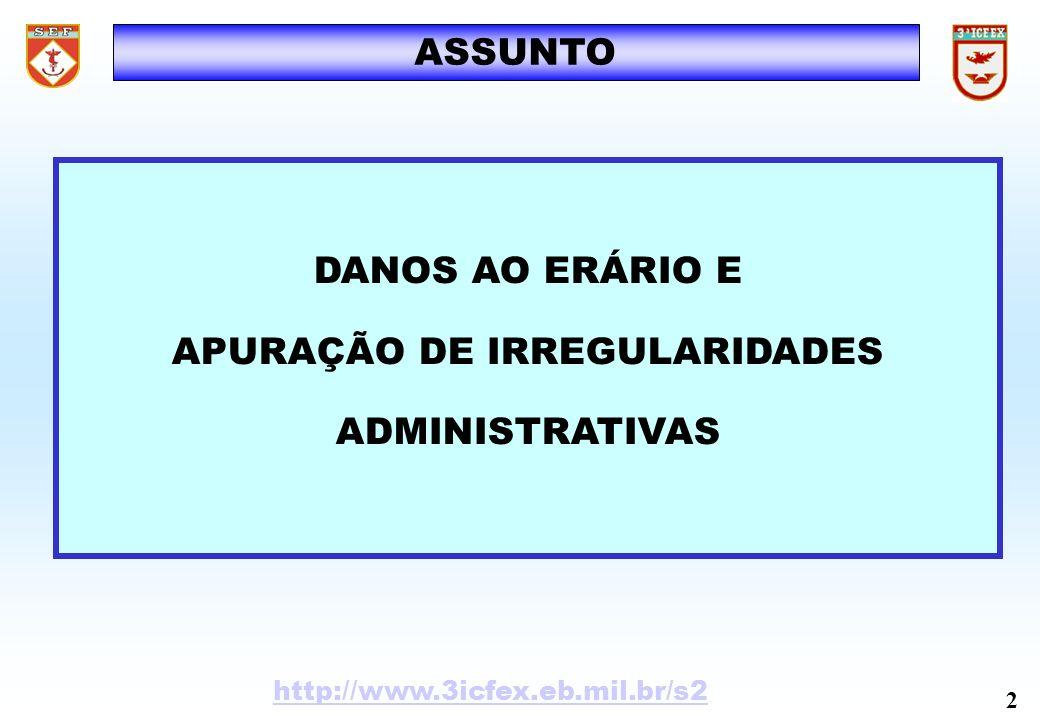APURAÇÃO DE IRREGULARIDADES ADMINISTRATIVAS