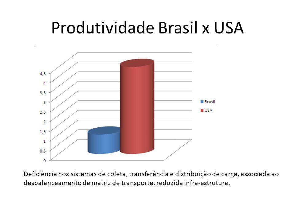 Produtividade Brasil x USA
