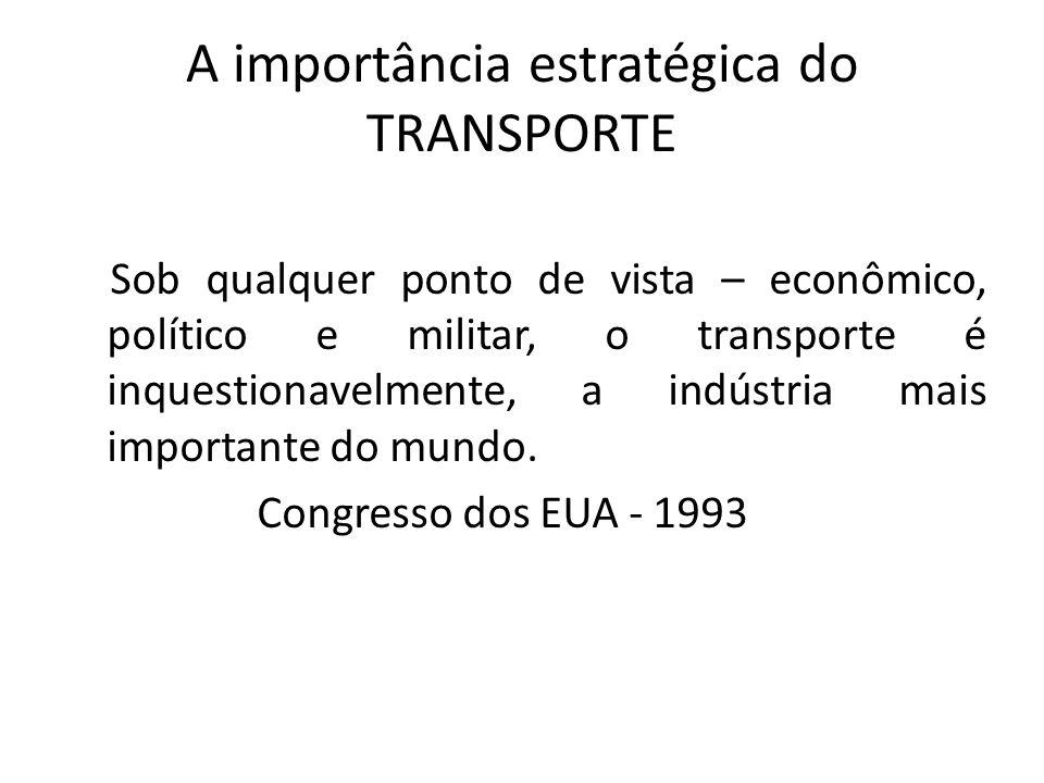 A importância estratégica do TRANSPORTE