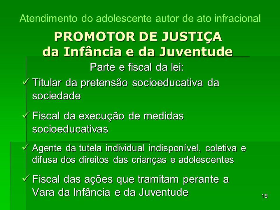 PROMOTOR DE JUSTIÇA da Infância e da Juventude
