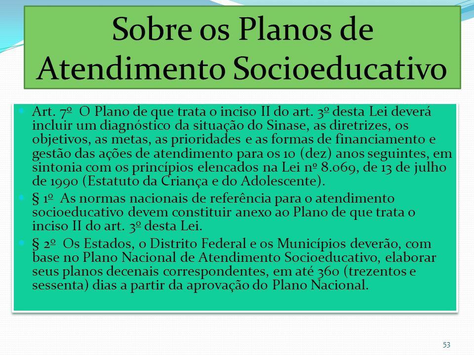 Sobre os Planos de Atendimento Socioeducativo