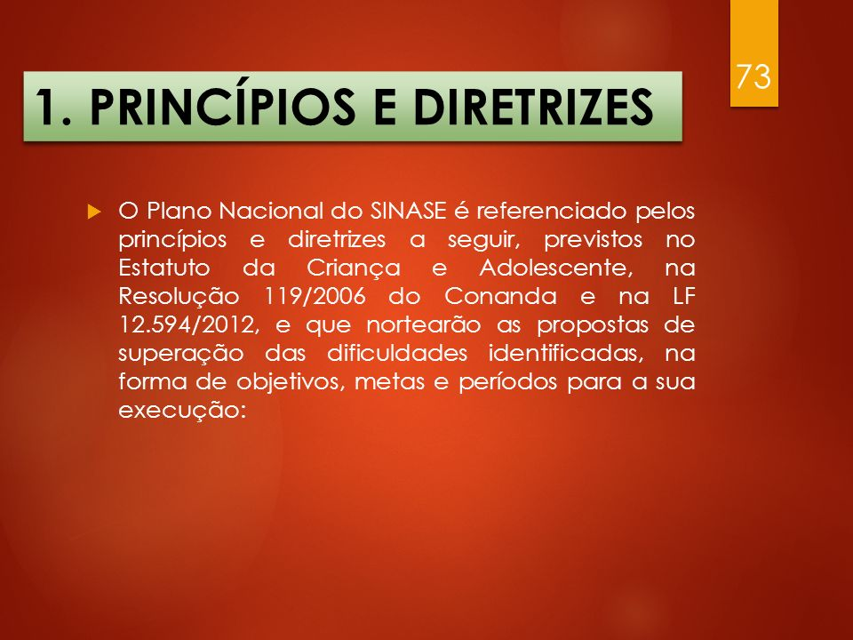 1. PRINCÍPIOS E DIRETRIZES