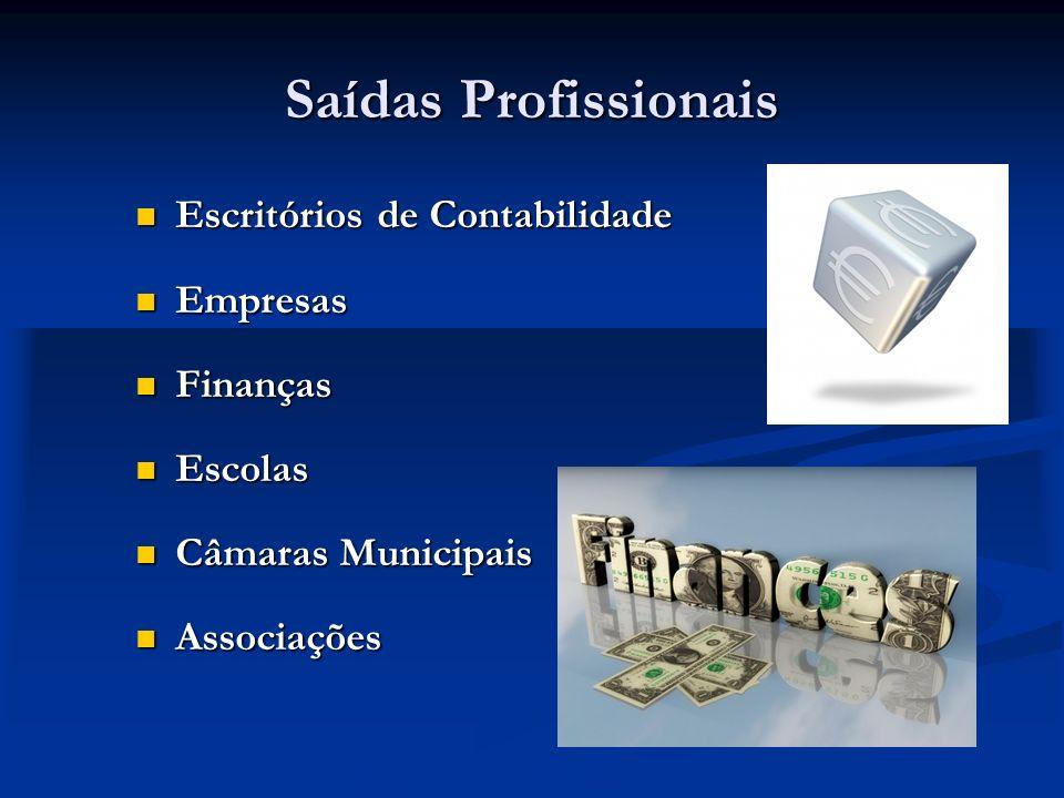 Saídas Profissionais Escritórios de Contabilidade Empresas Finanças