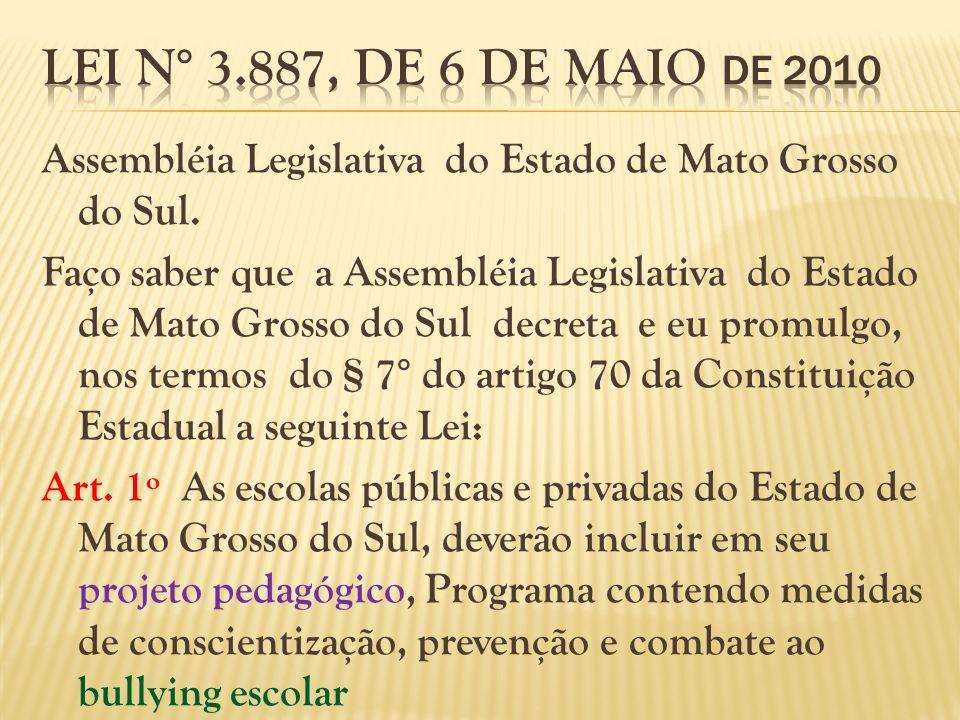 Lei N° 3.887, de 6 de maio de 2010