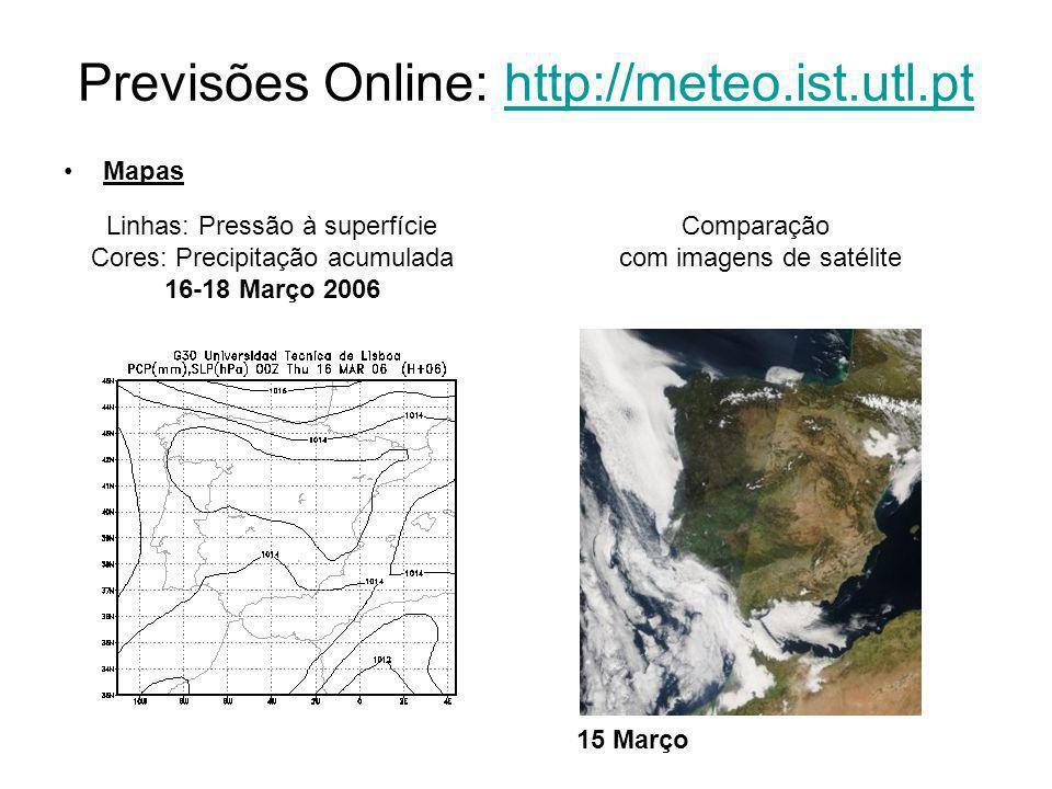 Previsões Online: http://meteo.ist.utl.pt