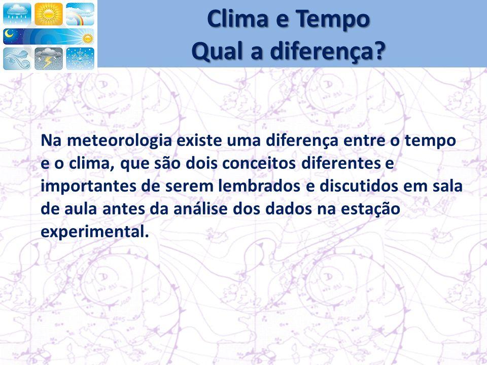 Clima e Tempo Qual a diferença