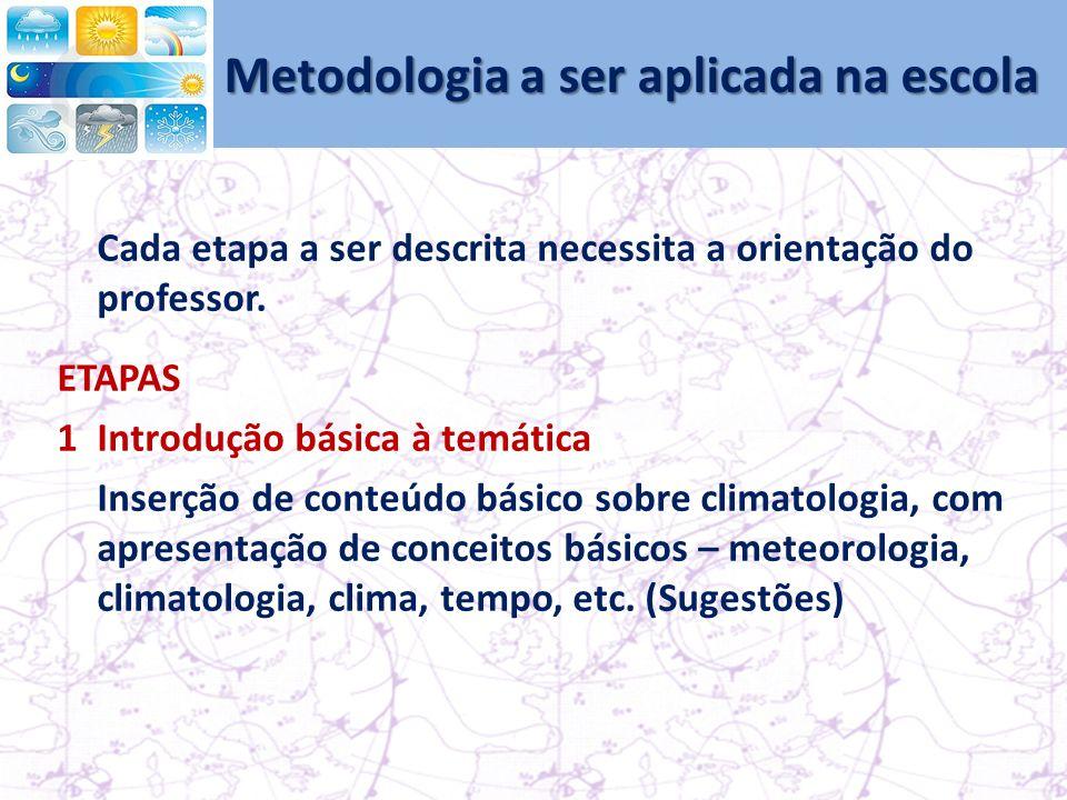 Metodologia a ser aplicada na escola
