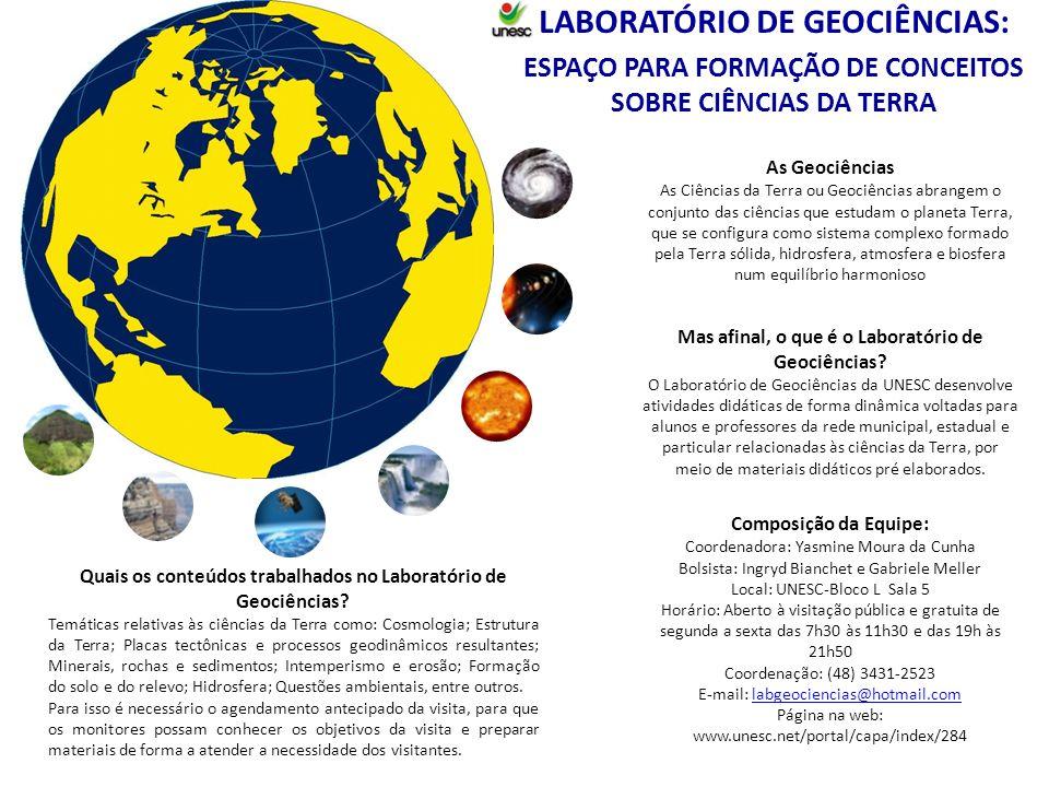 LABORATÓRIO DE GEOCIÊNCIAS: