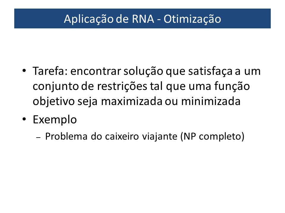 Aplicação de RNA - Otimização
