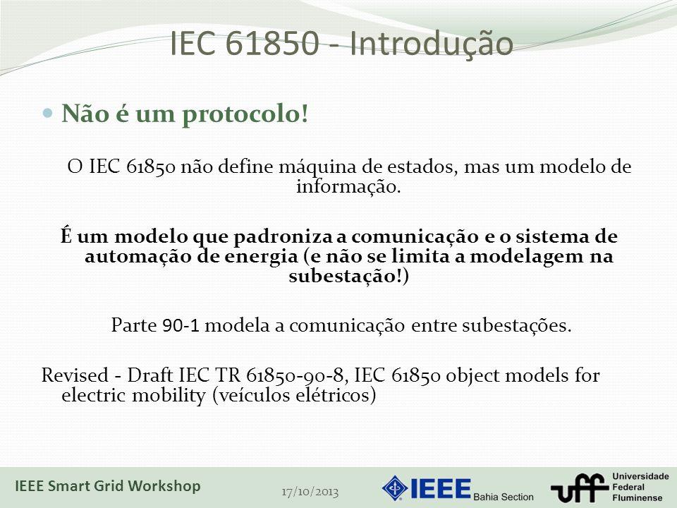 Parte 90-1 modela a comunicação entre subestações.