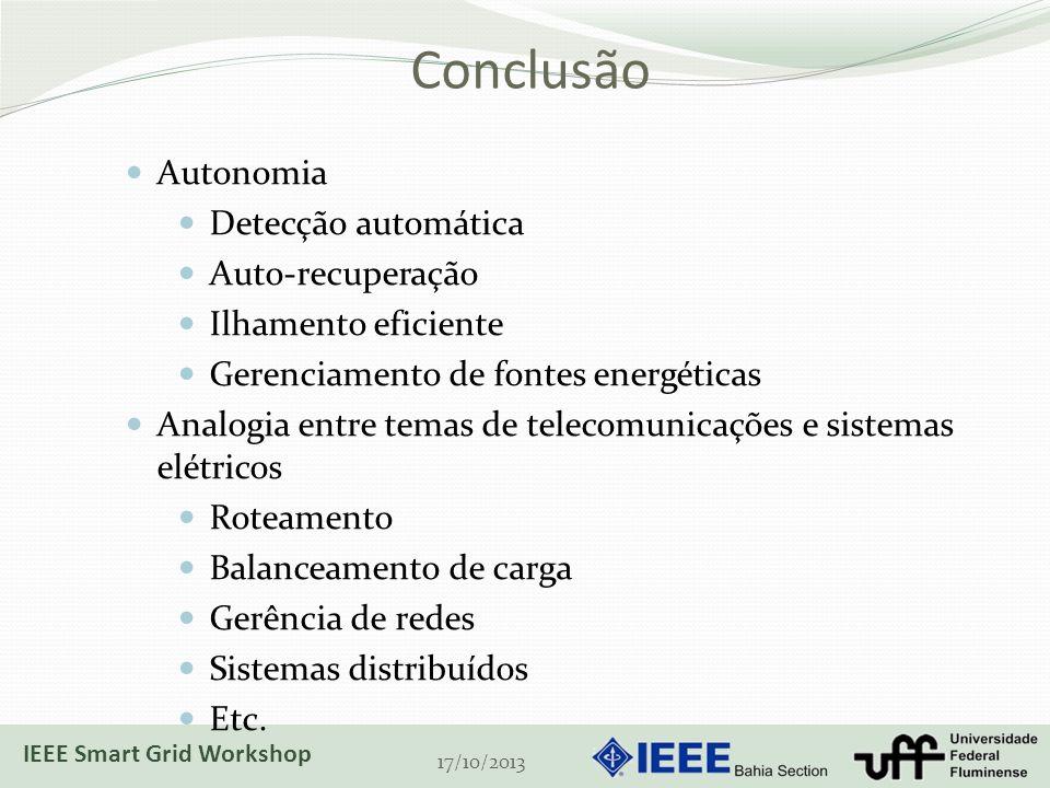 Conclusão Autonomia Detecção automática Auto-recuperação