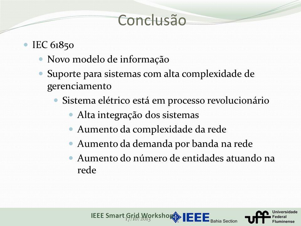 Conclusão IEC 61850 Novo modelo de informação