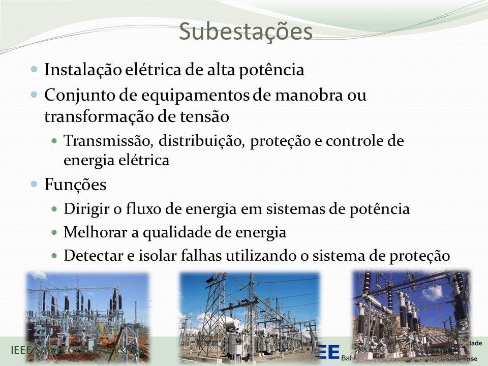 Subestações Instalação elétrica de alta potência