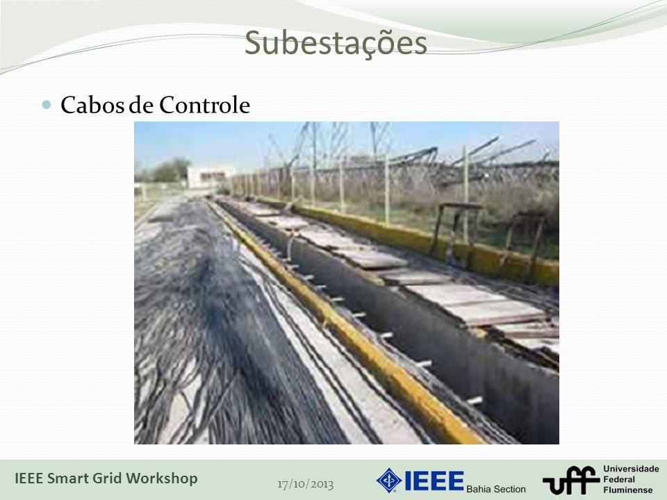 Subestações Cabos de Controle IEEE Smart Grid Workshop 17/10/2013