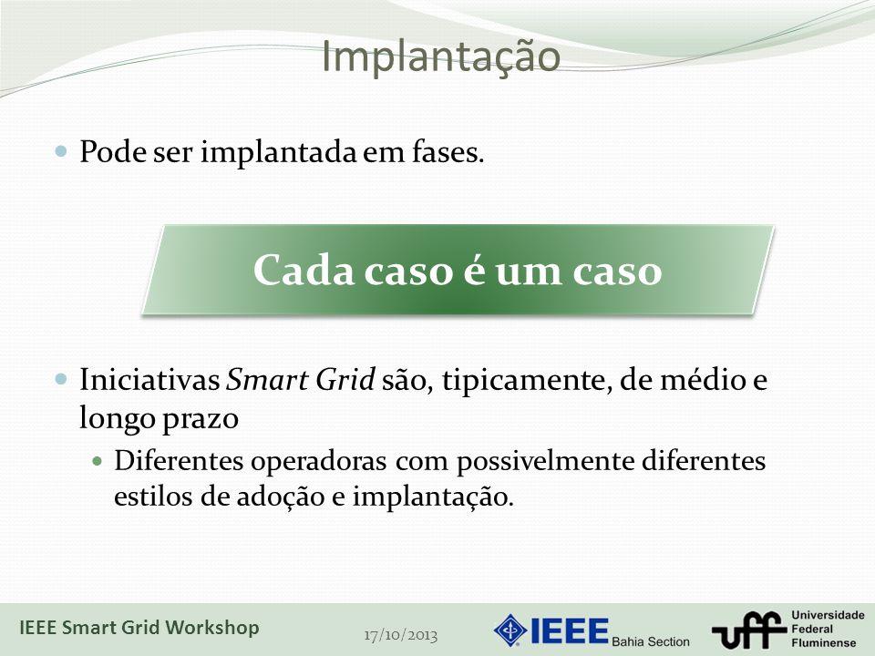 Implantação Cada caso é um caso Pode ser implantada em fases.