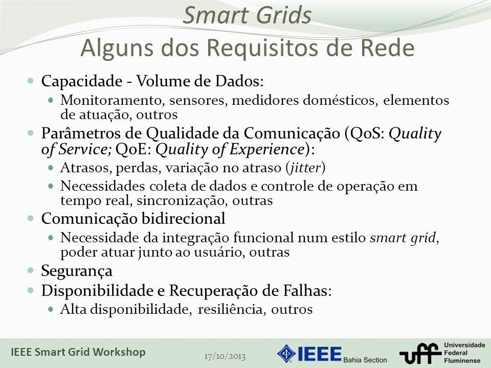 Smart Grids Alguns dos Requisitos de Rede