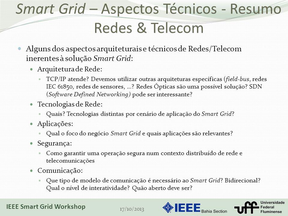 Smart Grid – Aspectos Técnicos - Resumo Redes & Telecom