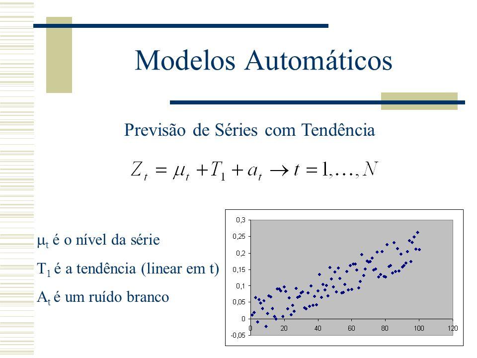 Modelos Automáticos Previsão de Séries com Tendência