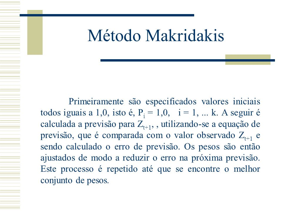 Método Makridakis
