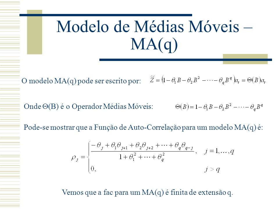 Modelo de Médias Móveis – MA(q)