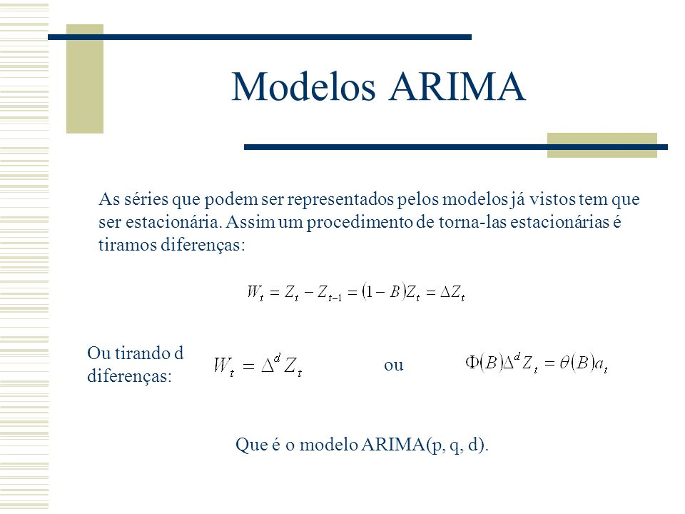 Modelos ARIMA