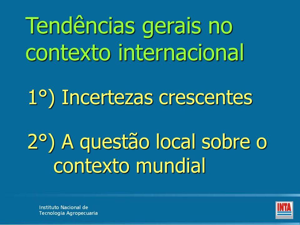 Tendências gerais no contexto internacional