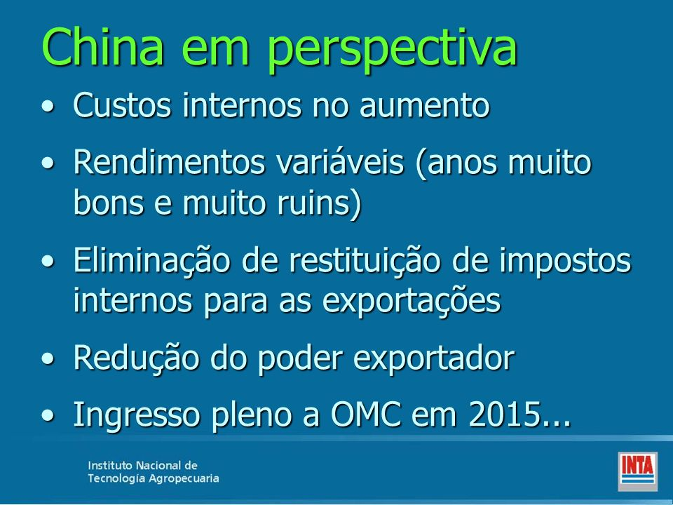 China em perspectiva Custos internos no aumento