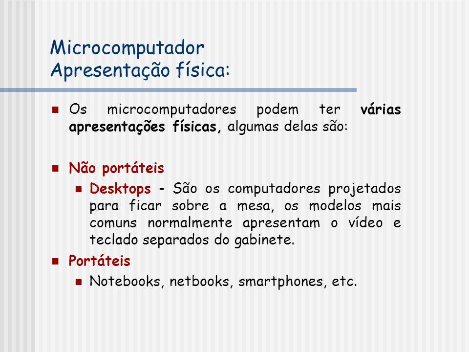 Microcomputador Apresentação física: