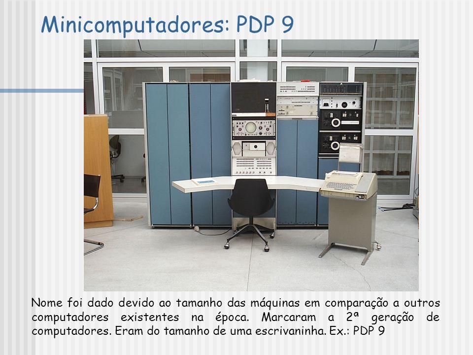 Minicomputadores: PDP 9
