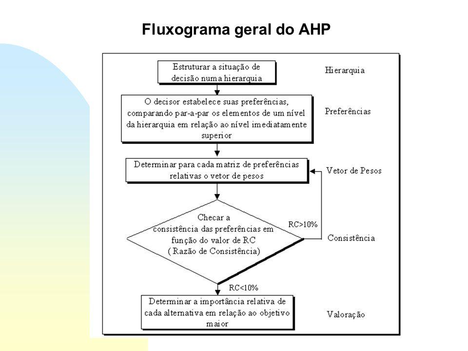 Fluxograma geral do AHP