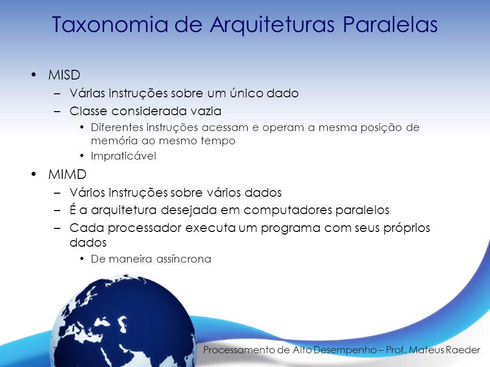 Taxonomia de Arquiteturas Paralelas