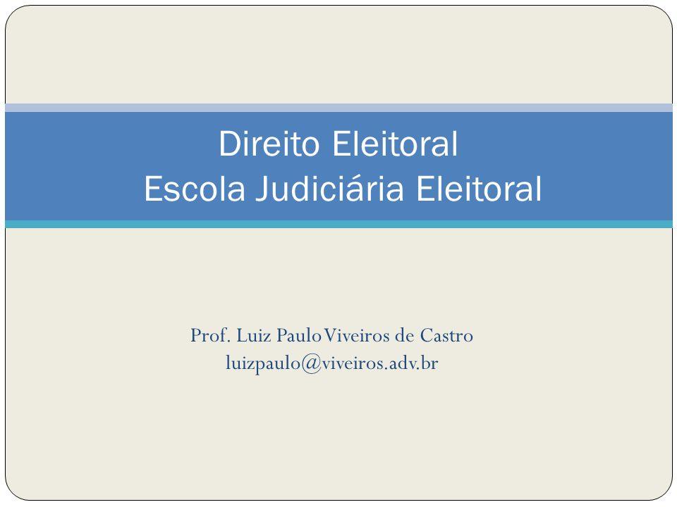 Direito Eleitoral Escola Judiciária Eleitoral