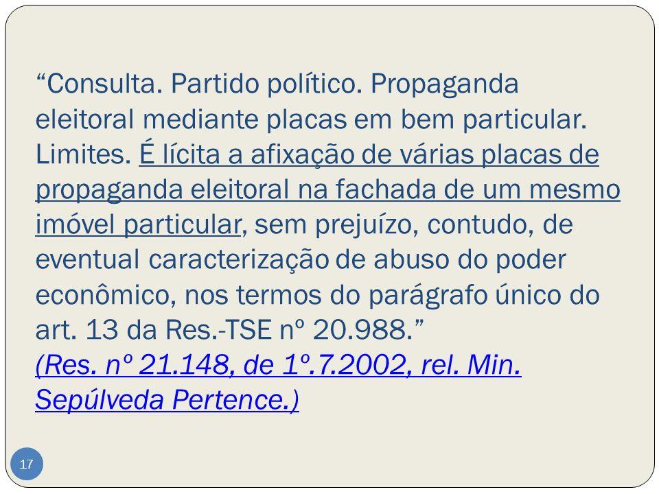Consulta. Partido político
