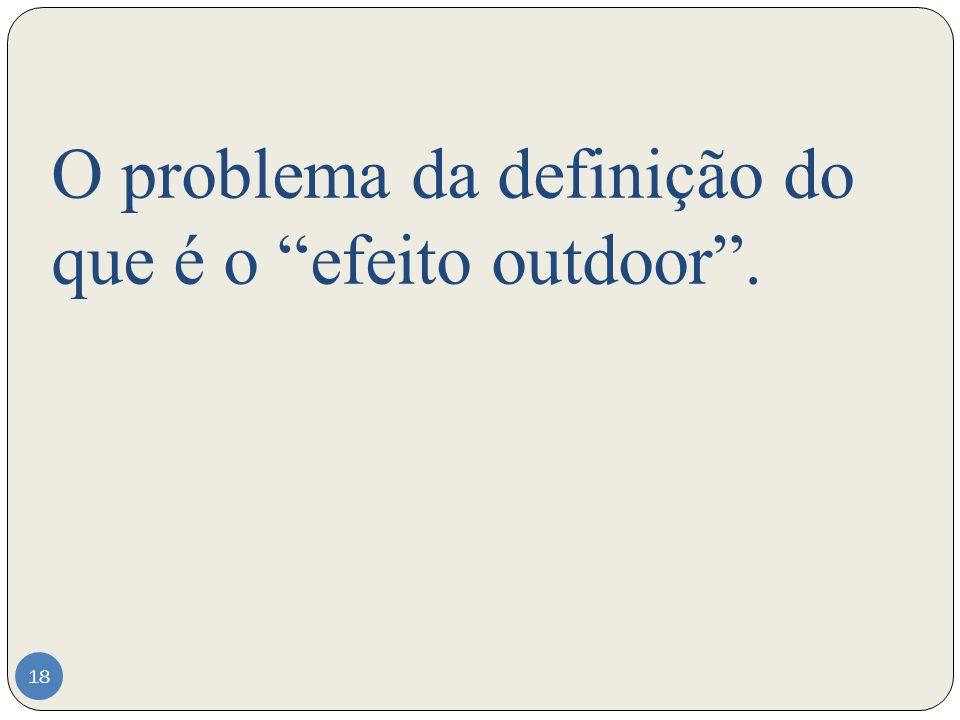 O problema da definição do que é o efeito outdoor .