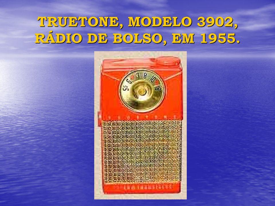 TRUETONE, MODELO 3902, RÁDIO DE BOLSO, EM 1955.