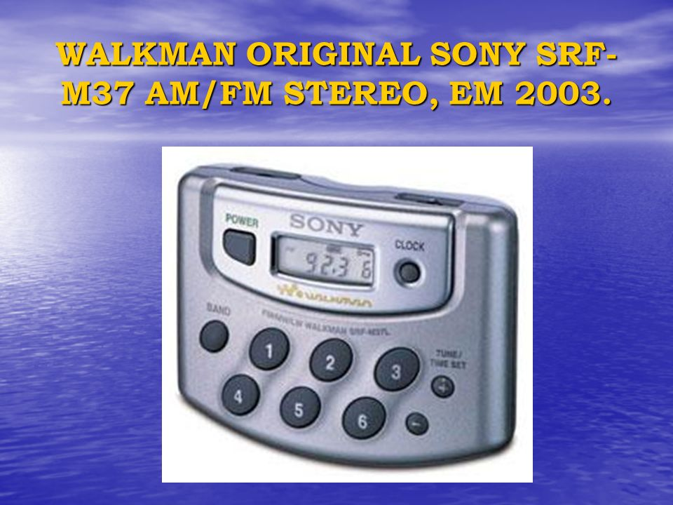 WALKMAN ORIGINAL SONY SRF-M37 AM/FM STEREO, EM 2003.