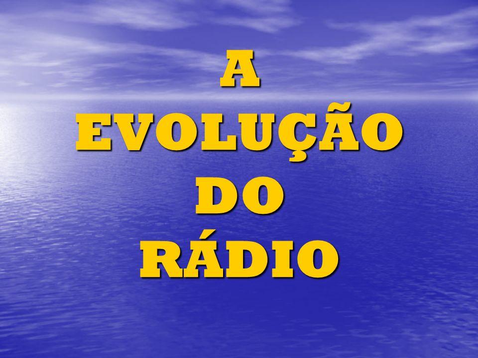 A EVOLUÇÃO DO RÁDIO