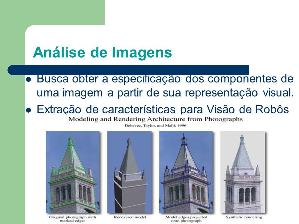 Análise de Imagens Busca obter a especificação dos componentes de uma imagem a partir de sua representação visual.