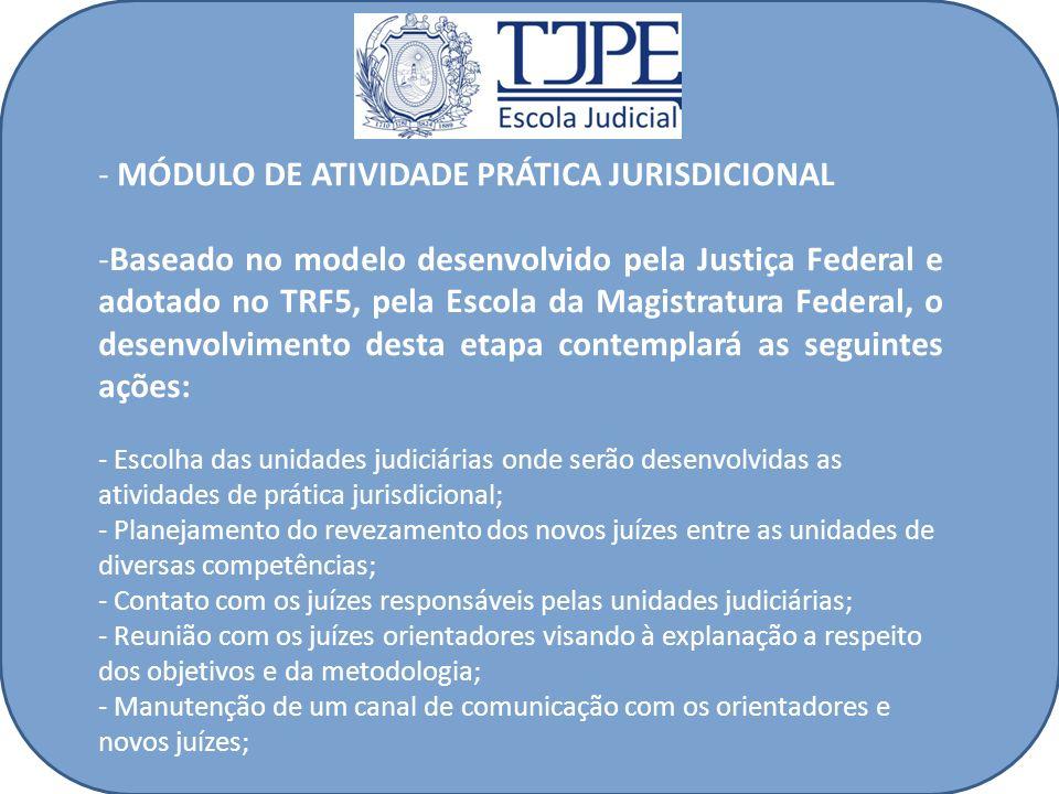 MÓDULO DE ATIVIDADE PRÁTICA JURISDICIONAL
