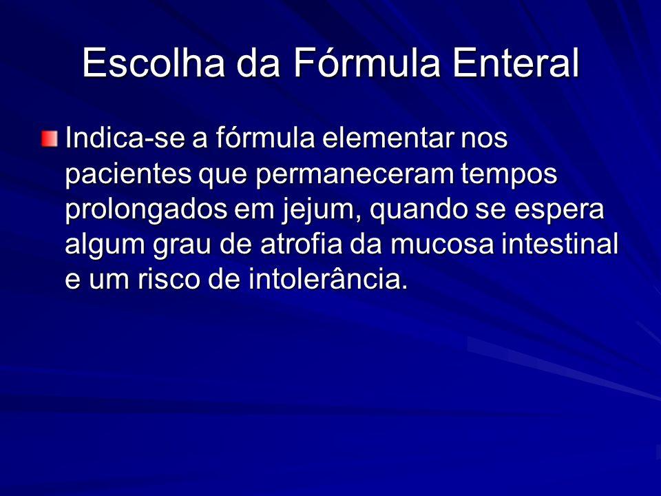 Escolha da Fórmula Enteral